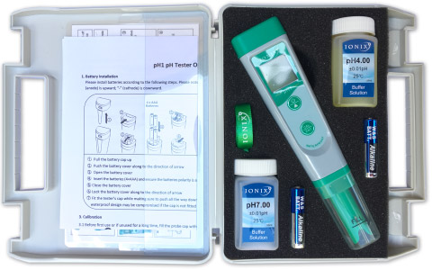 Ionix pH1 Meter Kit for measuring soil & water acidity