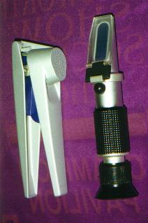 Optical Refractometer also known as a Brix Meter